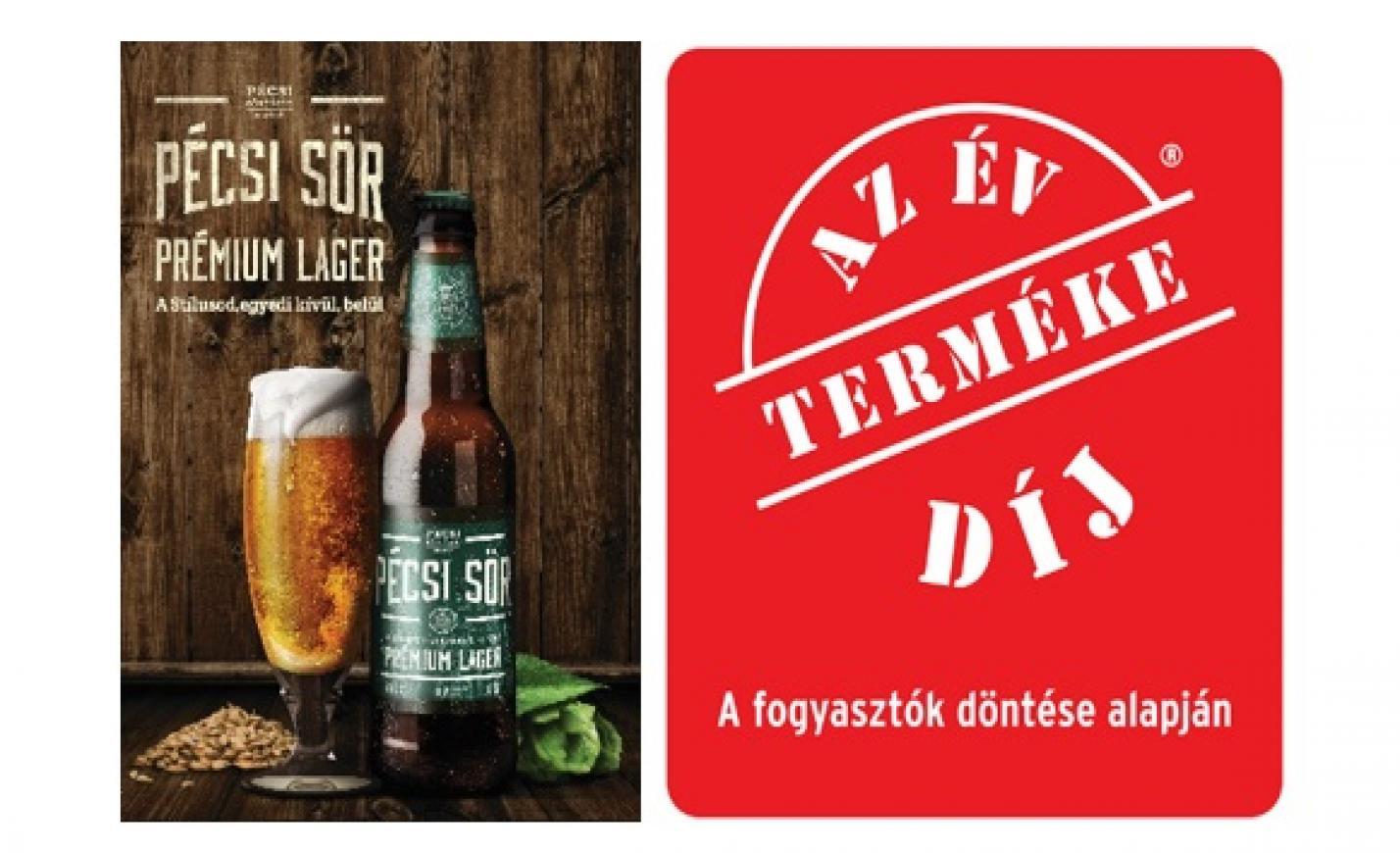 A Pécsi Sör Prémium Láger lett az Év Terméke sörök kategóriában