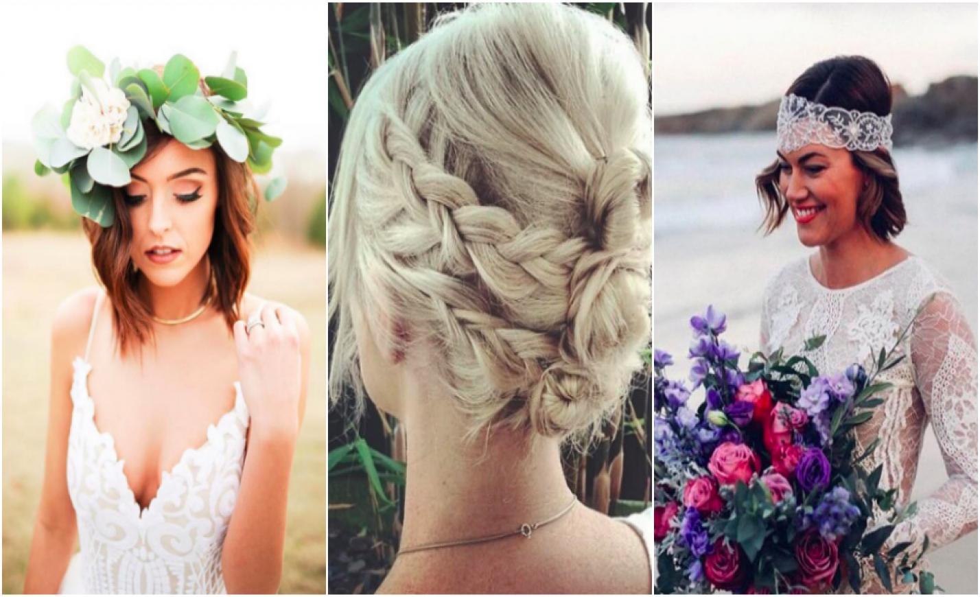 A legszebb esküvői frizurák rövid hajú menyasszonyoknak