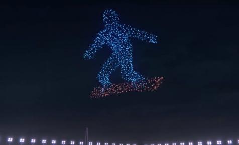 Elképesztően gyönyörű drónműsorral döntöttek rekordot a Téli Olimpián