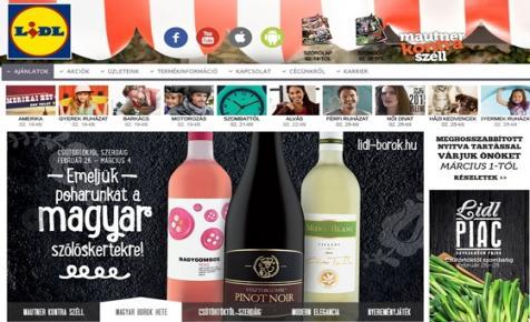 Majdnem 15 millió palack magyar bort értékesített tavaly a Lidl