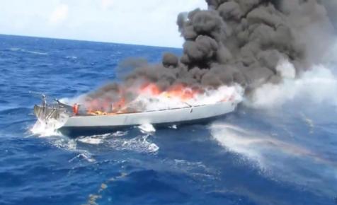 1,5 tonna kokainnal a fedélzetén égett le Fa Nándor korábbi hajója