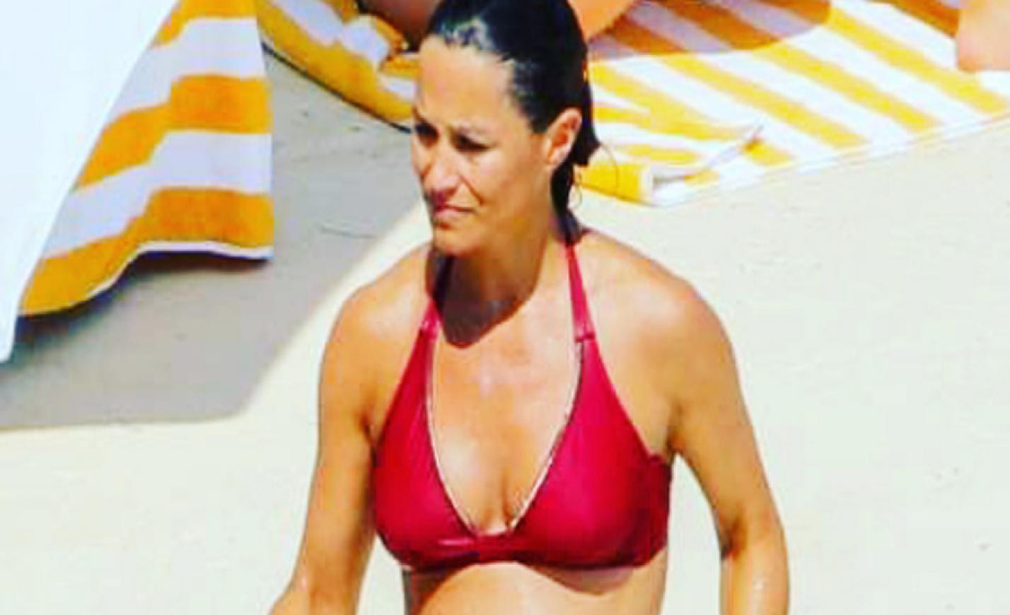 Bikiniben mutatta meg magát a terhes Pippa Middleton