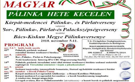 Magyar Pálinka Hete 2018 - Kecel