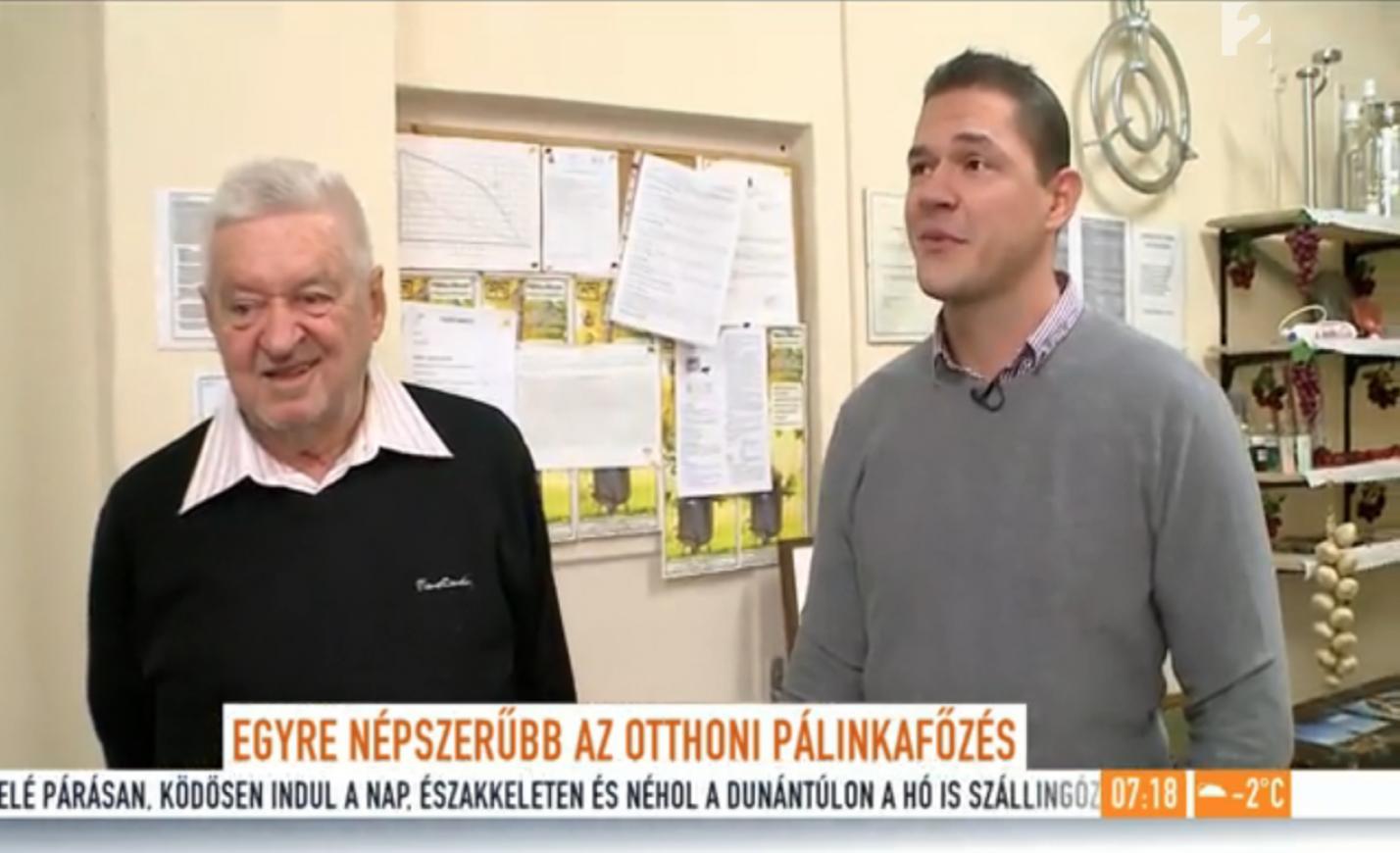 TV2 Mokka élő bejelentkezés a palinkafozes.com telephelyéről...