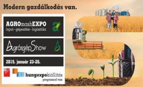 Újra itt az AGROmashEXPO és AgrárgépShow
