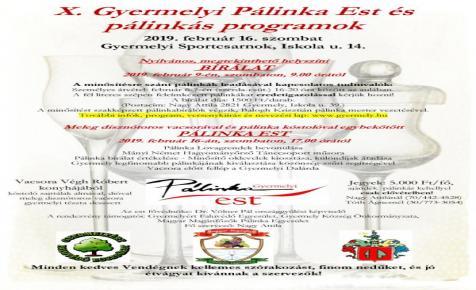 X. Gyermelyi Pálinka Est és pálinkás programok