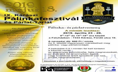 IX. Kárászi Pálinkafesztivál és Párlat-Tárlat