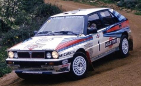 Gyermekkori álom: eladó egy martinis Lancia Delta HF Integrale