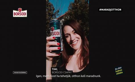 Karanténnel reklámoz a Borsodi