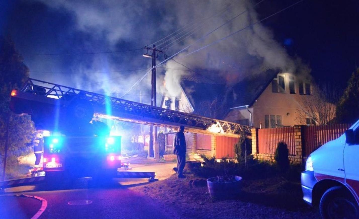 Kigyulladt egy ház Albertirsán: a rendőrök egy házaspárt, a tűzoltók nyolc kutyát mentettek ki