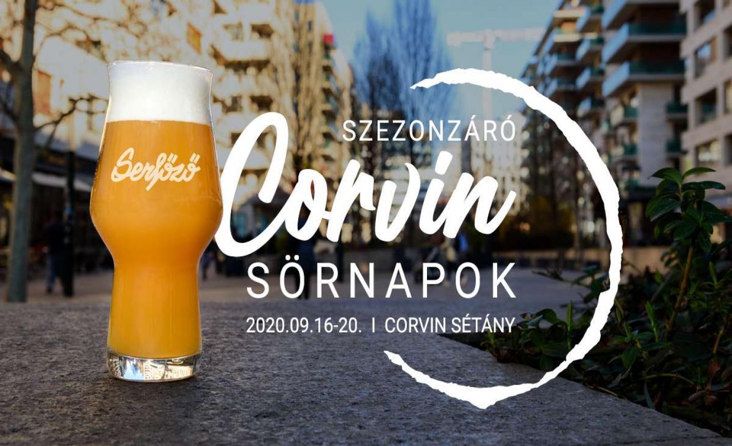 Sörfesztiválzáró sörözés a Corvinon
