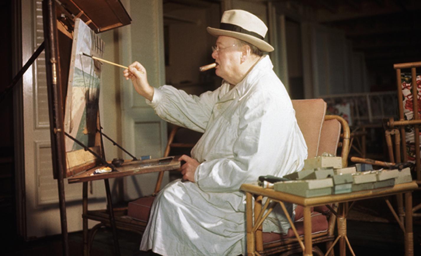 400 milliót fizettek a whisky-s festményért, amit Sir Winston Churchill készített - KÉP